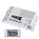 DC12-24V 24 Keys IR Wireless Sound Music RGB Controller for LED Strip Lighting