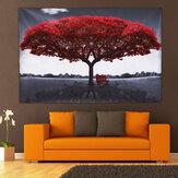Grandrougearbretoilemodernemaison décoration murale art peintures photo impression sans cadre décorations pour la maison