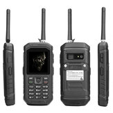JEASUNG X6 IP68 2.4 дюймов 2500mAh UHF Walkie Talkie Torch Bluetooth Dual SIM Водонепроницаемы Feature Phone