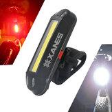 XANES2en1bicicleta500LM USB recargable LED Luz delantera de la bici luz trasera ultraligera luz de advertencia