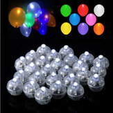50 Pcs White Ball Lamps LED Light Paper Lantern Balloons Wedding Party Christmas Halloween Decor