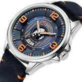 CURREN 8305 3D Number Design Date Display Men Wrist Watch