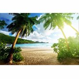 7x5ft Seaside Beach Summer Theme Photography Vinyl Backdrop Studio Background 2.1m x 1.5m