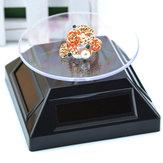 Vitrine affichage de rotation ° platine 360 solaire support pour l'affichage des bijoux bague de montre téléphone