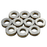 Machifit 10pcs F6-14M 6x14x5mm Axial Ball Thrust Bearing 6 x 14 x 5mm