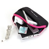Universal Zipper Digital Dustproof Carrying Bag Storage Box for Smartphone Accessories