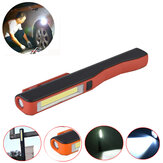 3W COB LED Work Light Outdoor Camping Emergency Magnetic Pen Lamp Night Flashlight