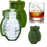 KCASA BT-100 Creative Game Grenade Shape Cocktail Whiskey Drinks Safe Silicone Ice Cube Mold