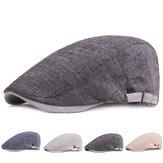 Men Cotton Beret Hat Buckle Adjustable Paper Boy Newsboy Cabbie Golf Gentleman Cap