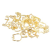 15Pcs Hollow Metal Frame For Jewelry Pendant Resin Silicone Mold Fondant Molds