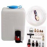 12V 1.8L Universal Motorcycle Car Wind Shield Washer Reservoir Pump Bottle Kit Jet Switch
