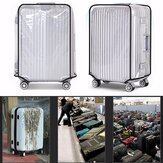 Luggage Protector Cover Transparent Clear PVC Travel 22-28 Inch Suitcase Dust Protective