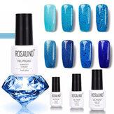8Colors Blue Series Shimmer Glitter Nail Gel Soak-off UV Gel