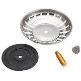 304 Stainless Steel Kitchen Sink Strainer Stopper Waste Plug Sink Filter Bathroom Basin Sink Drain