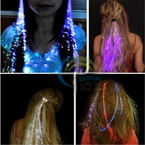 4 PCS Flash LED Tresse De Cheveux 40 CM Décoration Jouets Fête De Noël Extension de Fibre Barrette