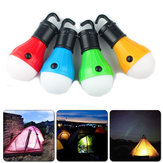 XANES 5288 3LEDs 100Lumens 3Modes LED Bulb Red/ Blue/ Green/ Yellow Hanging Tent Lamp Night Light Portable Flashlight