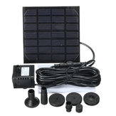 Original Water Garden Patio 1.2W Solar Panel Pool Bird Bath Fountain Water Pump with 4 Nozzles