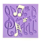 Notes musicales Fondant Cake Mold Silicone Chocolate Mold Baking Cake Decoring Tool