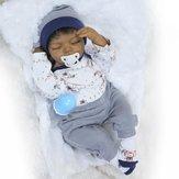 NPK Collection 20inch Soft Silicone Limbs Cloth Body Reborn Dolls Lifelike Sleeping Baby Toy