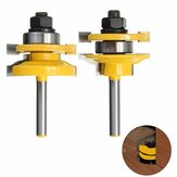 Drillpro 1/4 Inch Shank Rail and Stile Router Bits Standard Ogee Bits for Woodworking