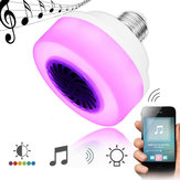 E27 5 W LED Sans Fil Bluetooth RGB Musique Jouer Haut-Parleur Stade Ampoule AC100-240 V
