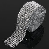 Original Wedding Diamond Mesh Roll Sparkle Rhinestone Crystals Ribbon Decor