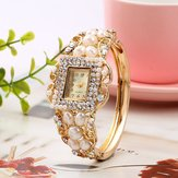 Fashionable Pearl Bracelet Diamond Women Quartz Watch