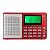 Portable Pocket Radio FM AM SW Speaker TF Card LCD Digital Audio MP3 Music Player USB Clock Alarm
