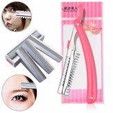 Eyebrow Shaping Trimmer Eye Makeup Kit 10Pcs Blade with 1 Holder Hair Removal