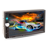 7023D 7 Inch 2 Din Car MP5 Stereo Player Bluetooth Touch Screen FM Rear View Camera AUX