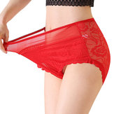 Plus Size High Waist Elastic Panties