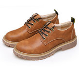 Original Outdoor Men Retro Leather Low Top Casual Breathable Sport Hiking Short Boots Martin Shoes