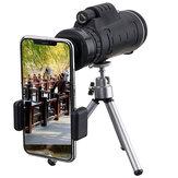 40X60 Monocular óptico HD Lente Telescopio + trípode + Clip para teléfono móvil