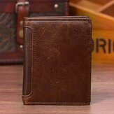 Vintage Genuine Leather 13 Card Slots Wallet