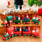 Christmas 2017 Wood Train Christmas Decoration Decor Innovative Gift for Children Diecasts Toy Vehic