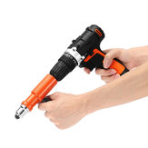 Drillpro Upgraded Electric Rivet Nut Gun Cordless Riveting Tool Drill Adapter for Electric Drill
