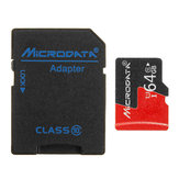 Microdata 64GB C10 U1 Micro TF Memory Card with Card Adapter Converter for TF to SD