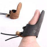 Cowhide Finger Guard Protector Handschoen voor Fishing Ourdoor Activiteiten Leather Finger Protection
