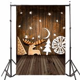 7x5FT Christmas Theme Gift Wooden Warm Color Vinyl Photography Background Backdrop for Studio