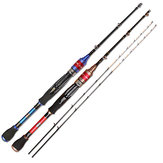 ZANLURE 1.2-1.5m Titanium Alloy Telescopic Fishing Rod Double Tips Sea Fishing Rod Blue/Red