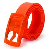 Unisex Hypoallergenic Belt Colored Frosted Silicone Plastic Candy Flavor Belt