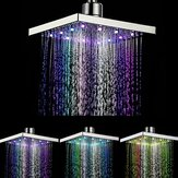 Pommeau de douche LED multicolore à contrôle de température de l'eau de chrome réglable à 360 °