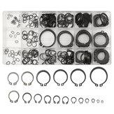 Suleve™ MXMR1 300Pcs 3-32mm Assorted External Circlip Snap Ring C-Clip Repairs Parts Case Box