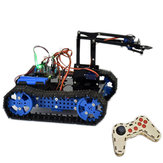 Fai da te Arduino Kit educativo per carro armato intelligente braccio robot RC RC