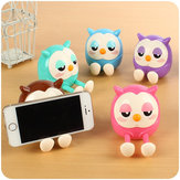 Cartoon Lovely Owl Multi-function Mobile Phone Stents Stand Holder Piggy Bank