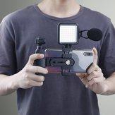 Original W49 Digital LED Video Light 6000K Pequeño Lámpara 1/4 Inch Agujero de montaje Zapata caliente Conector Universal para DSLR DJI OSMO Pocket Action Cámara Soporte de expansión