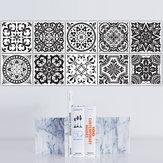 Funlife Black And White Retro European Bathroom Tile Plaster Anti-Oil Plaster Bathroom Wall Plaster Wall Stickers