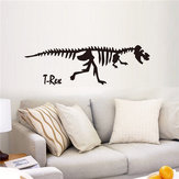 Cool Black Dinosaur Skeletons Wall Decals Waterproof Wall Stickers Home Wall Window Decor
