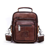 Men Large Capacity Shoulder Bags Genuine Leather Bag