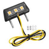Universal Motorcycle LED License Plate Lights 3 Colors For Honda/Kawasaki/Yamaha/Suzuki